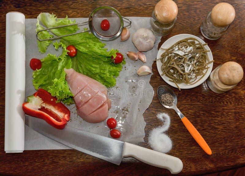 Ingredienser för matlagning arkivfoto