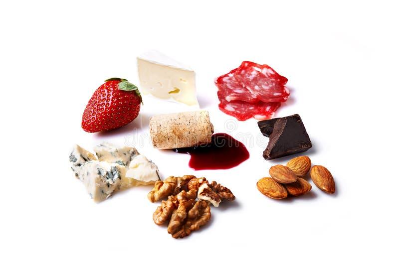 Ingredienser för ostplatta royaltyfria bilder