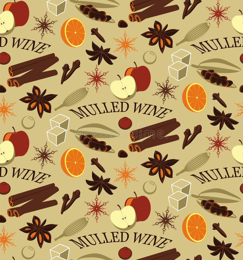 ingredienser mulled wine vektor illustrationer