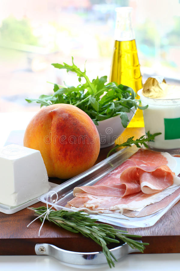 ingrediensmålförberedelse arkivfoto