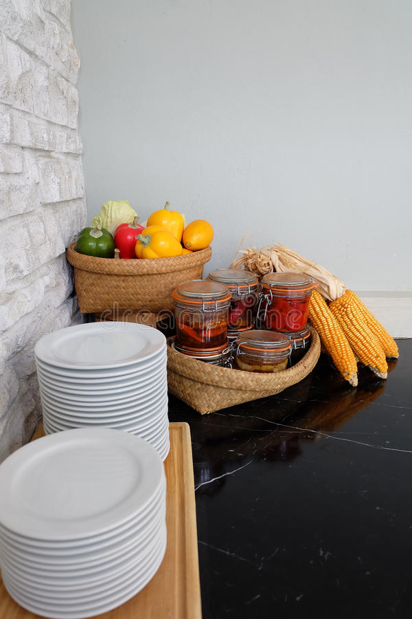 Ingredient in the kitchen stock images