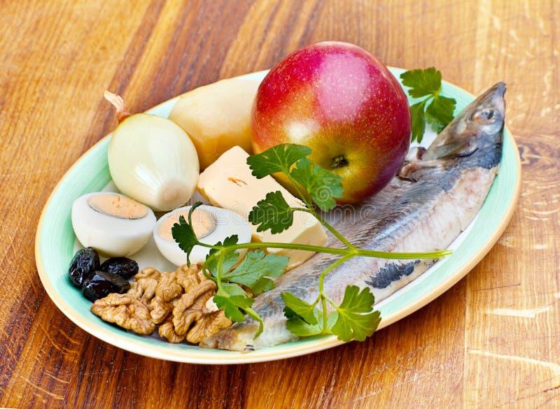 Ingredient For Salad Stock Photos