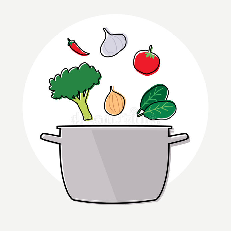 Ingrediente de la sopa ilustración del vector