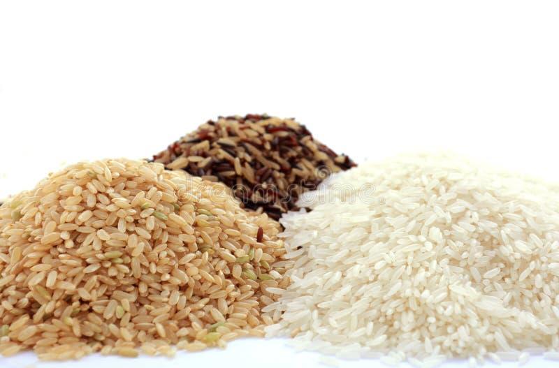 Ingrediente gluten-libre crudo del cereal del arroz imagenes de archivo