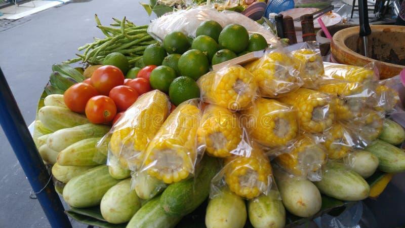 Ingrediente para la ensalada de la papaya imágenes de archivo libres de regalías