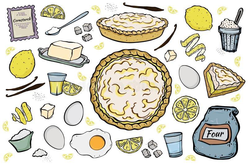 Ingredientes abiertos de la empanada del limón fotografía de archivo