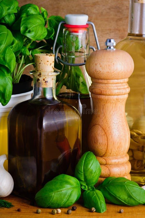 Ingredientes alimentarios mediterráneos imagenes de archivo