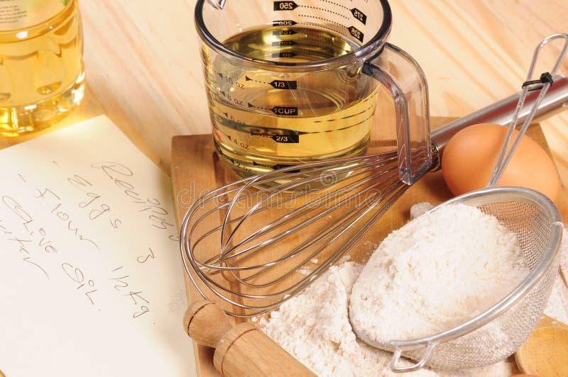 Ingredientes da crosta. fotos de stock