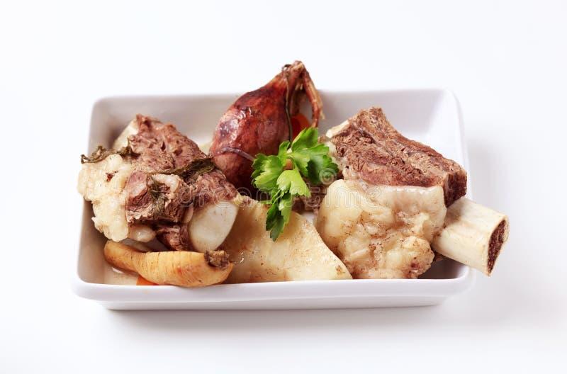 Ingredientes da sopa da carne imagem de stock