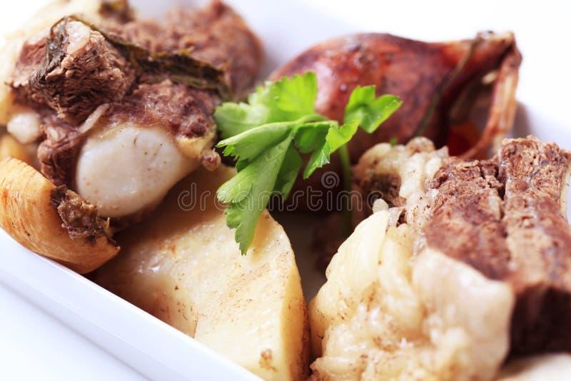 Ingredientes da sopa da carne fotografia de stock royalty free