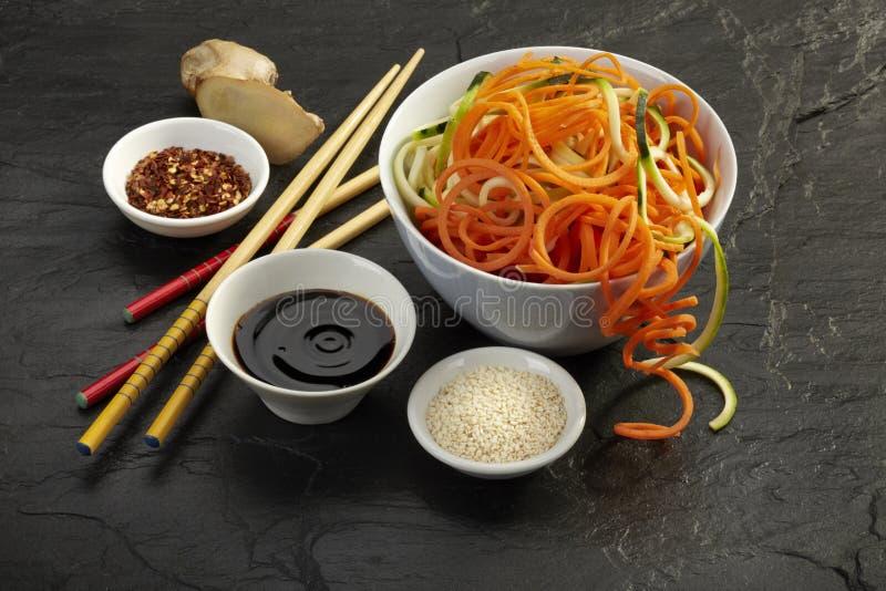 Ingredientes de alimento asiáticos imagens de stock