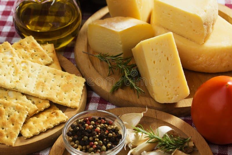 Ingredientes de alimento italianos fotos de stock