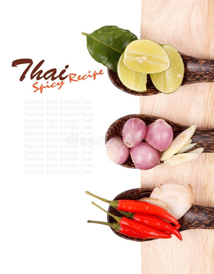 Ingredientes de alimento tailandeses picantes fotos de stock