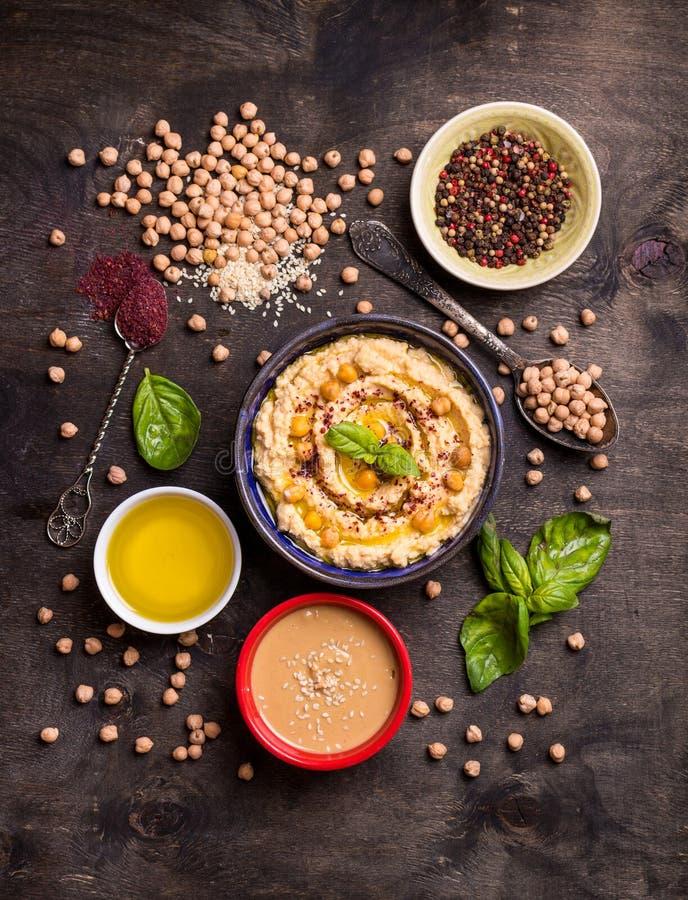 Ingredientes de Hummus imagen de archivo libre de regalías