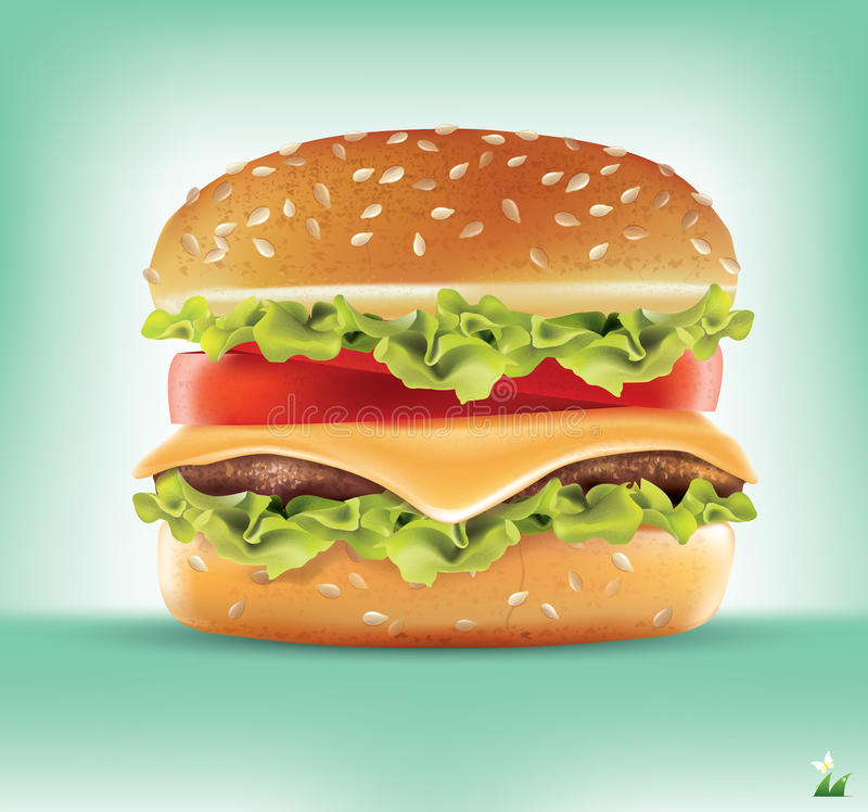 Ingredientes de la hamburguesa Infographics del vector libre illustration