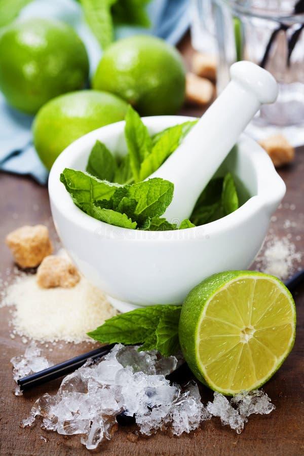 Ingredientes do cocktail imagens de stock royalty free