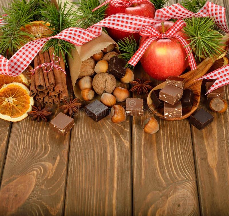 Ingredientes do Natal foto de stock