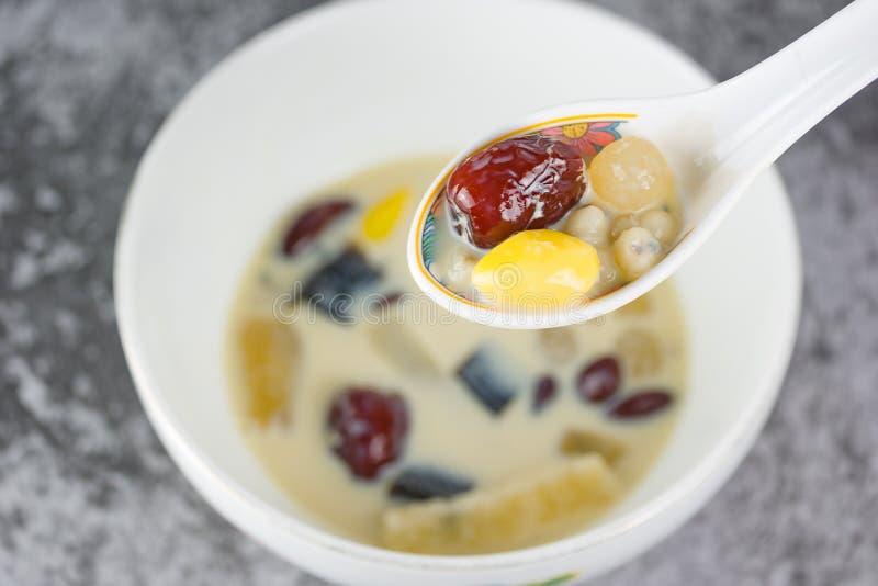 Ingredientes extra do leite de feijão de soja foto de stock
