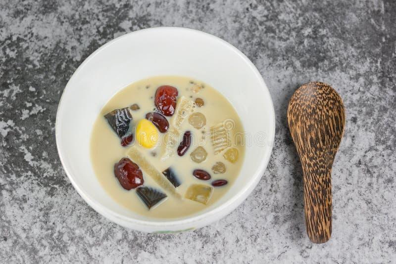Ingredientes extra do leite de feijão de soja imagem de stock