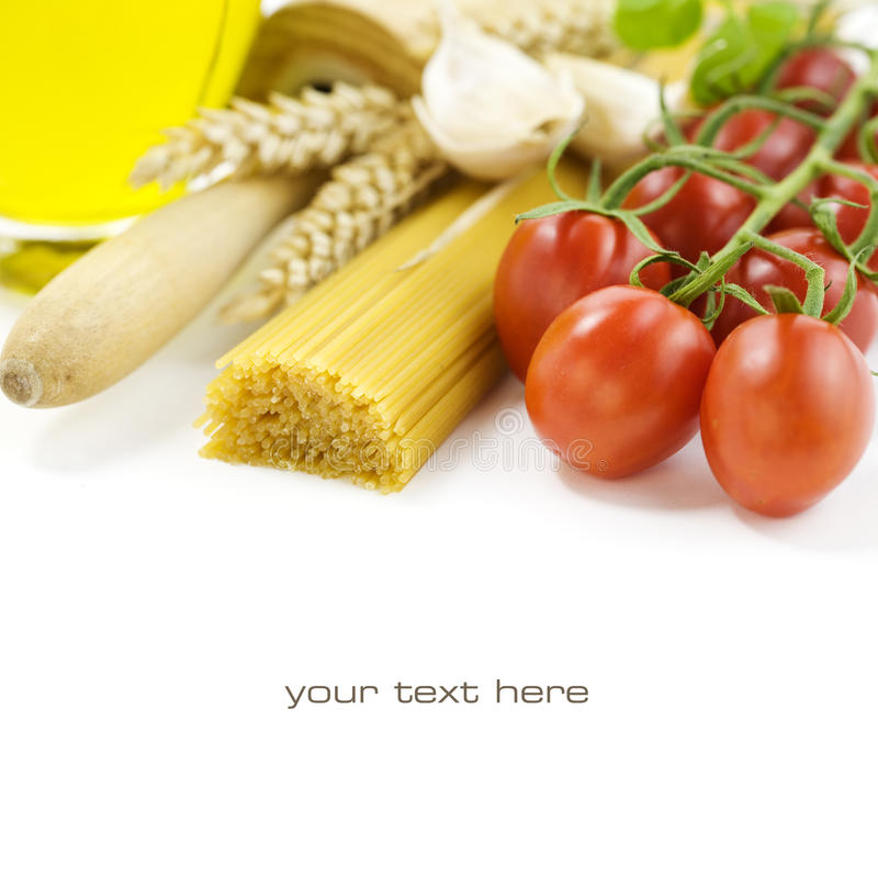 Ingredientes italianos foto de stock royalty free