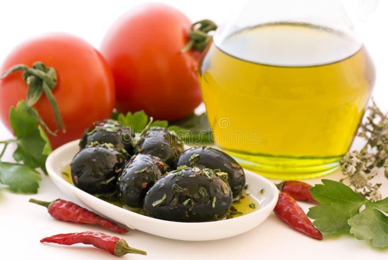 Download Ingredientes italianos foto de stock. Imagem de azeitona - 16872536