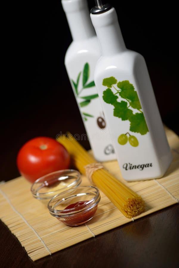 Ingredientes italianos imagen de archivo