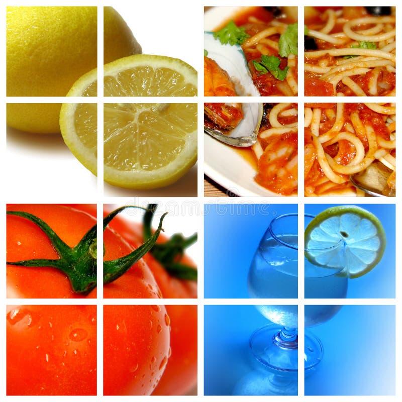 ingredientes: limón y tomate imagen de archivo