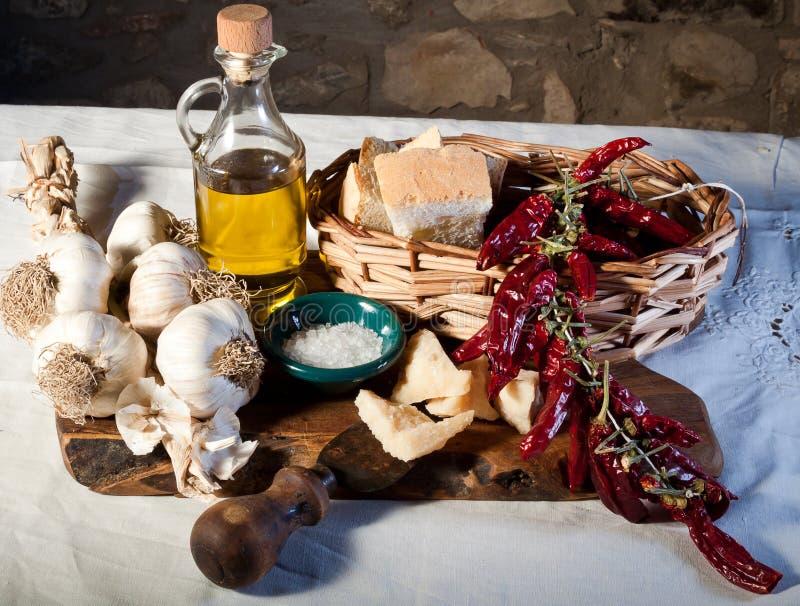 Ingredientes mediterrâneos fotos de stock