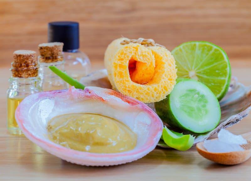 Ingredientes naturais dos termas fotos de stock