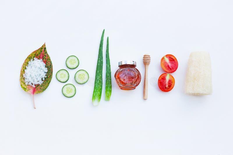 Ingredientes naturais para cuidados com a pele caseiros fotografia de stock royalty free