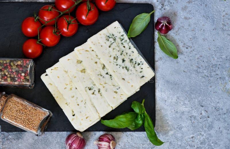 Ingredientes para la salsa Fondo italiano del alimento fotografía de archivo