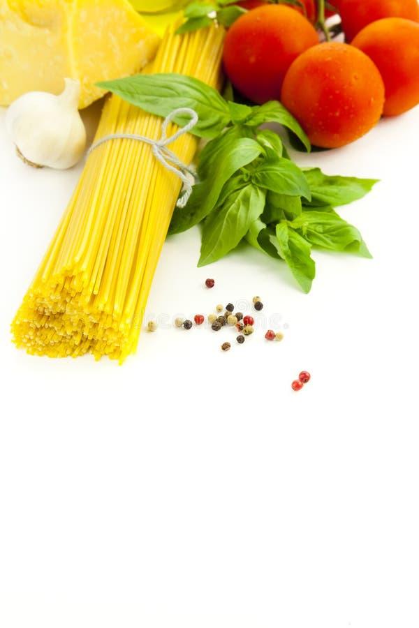 Ingredientes para o cozimento italiano fotos de stock royalty free