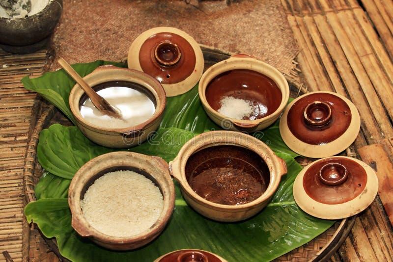 Ingredientes para o vinho de arroz imagem de stock