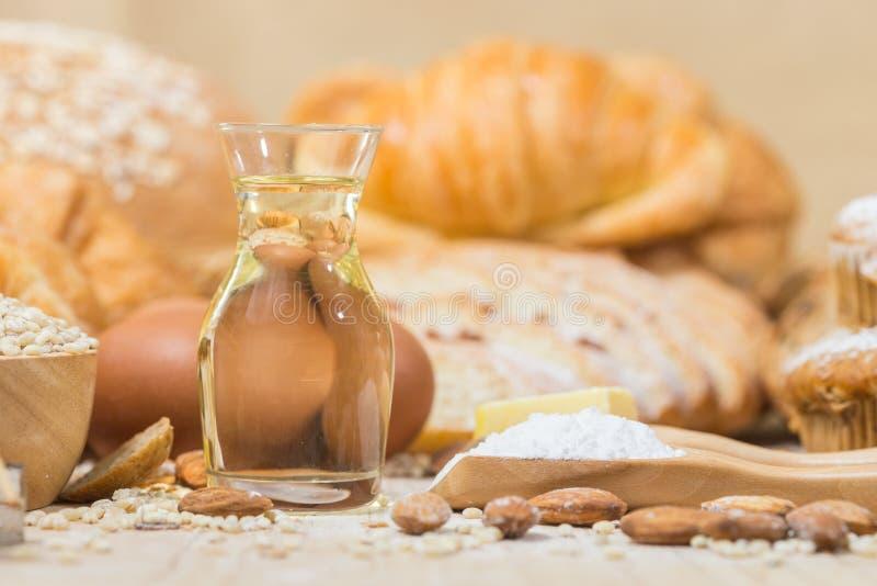 Ingredientes para produtos da padaria foto de stock