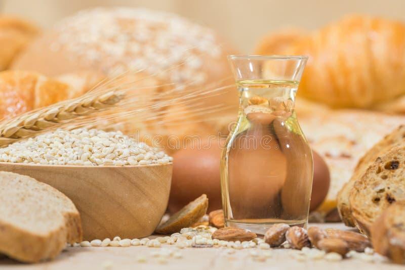 Ingredientes para produtos da padaria imagem de stock