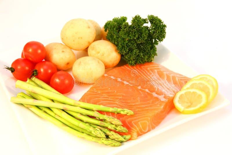 Ingredientes Salmon da faixa foto de stock