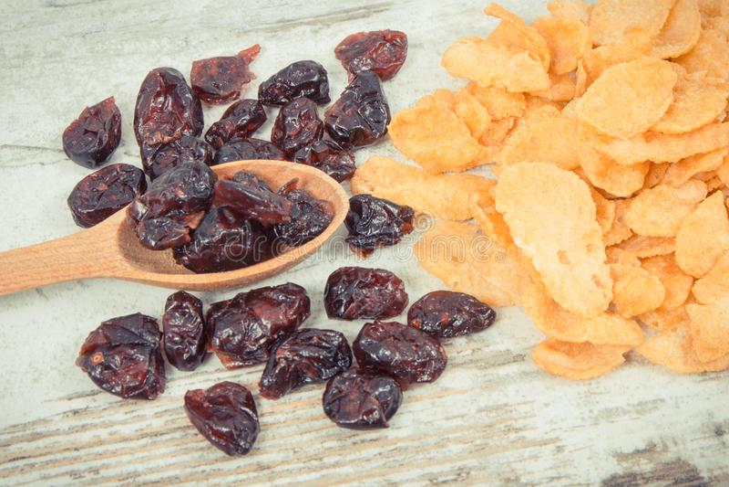 Ingredientes saudáveis que contêm minerais, hidratos de carbono e a fibra dietética, conceito nutritivo comer fotografia de stock