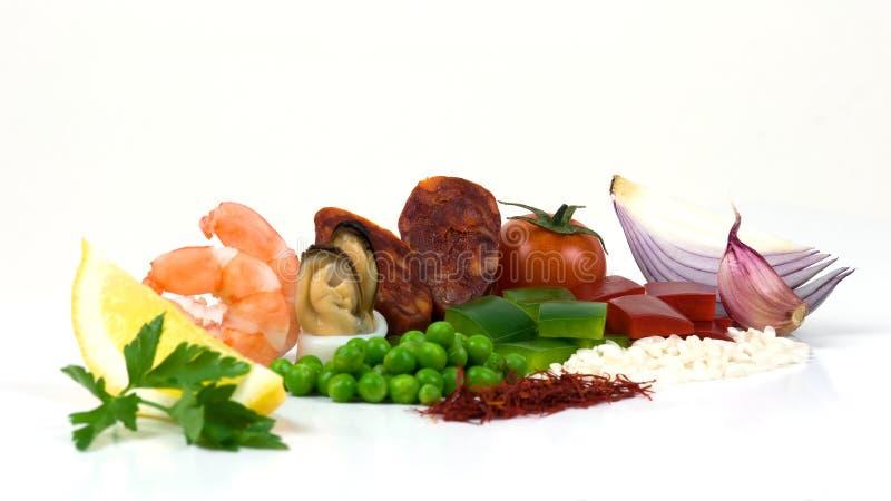 Ingredienti del Paella immagine stock libera da diritti