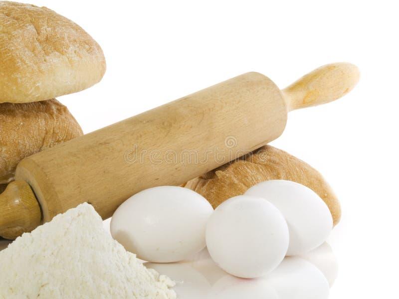 Ingredienti del pane fotografia stock libera da diritti