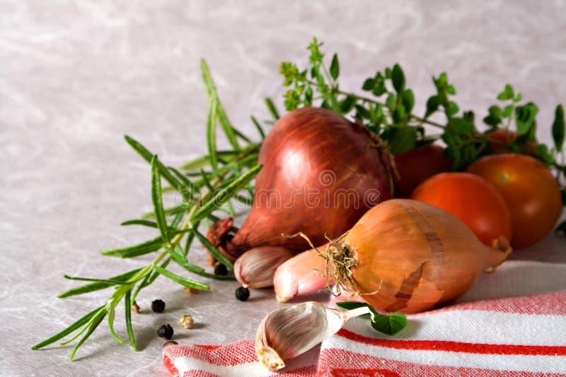 Ingredienti della salsa di pasta immagine stock libera da diritti