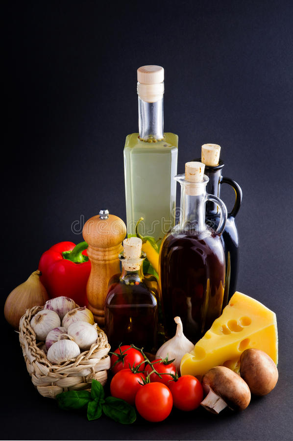 Ingredienti di alimento fotografie stock