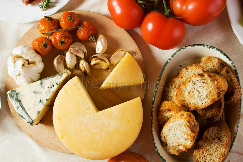 Ingredienti di alimento italiani fotografie stock