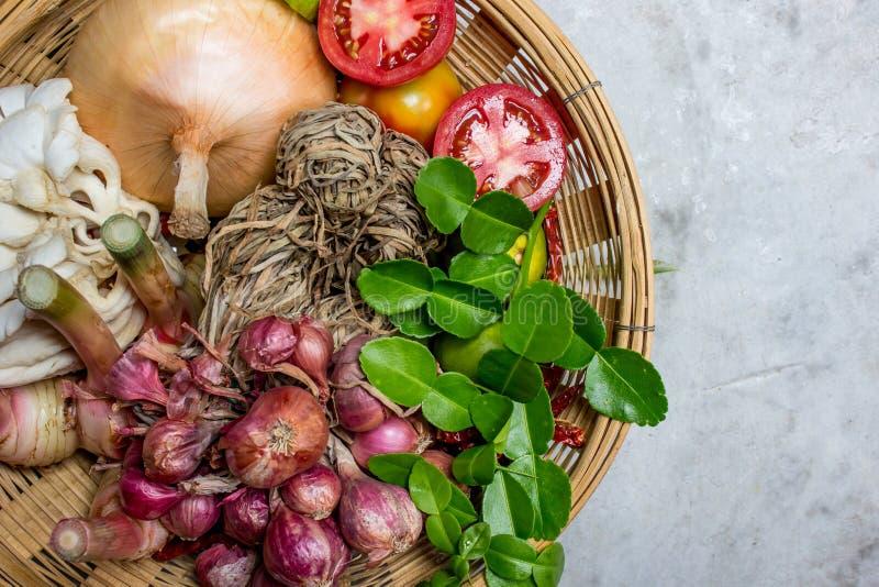 Ingredienti di alimento piccante tailandese fotografie stock