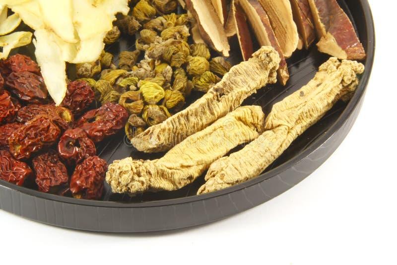Ingredienti di erbe cinesi della minestra fotografia stock