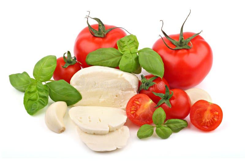 Ingredienti italiani 1 dell'insalata immagini stock