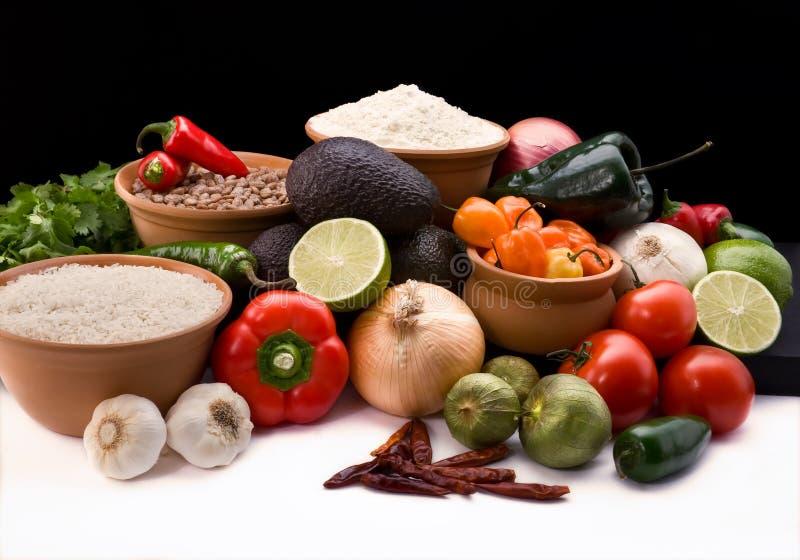Ingredienti messicani del pasto fotografia stock