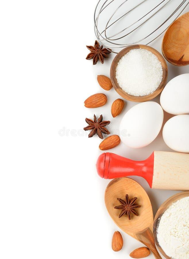 Ingredienti per cuocere fotografia stock