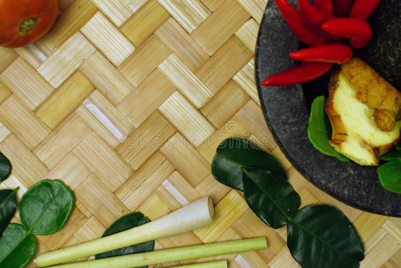 Ingredienti tailandesi popolari per alimento tailandese immagine stock libera da diritti