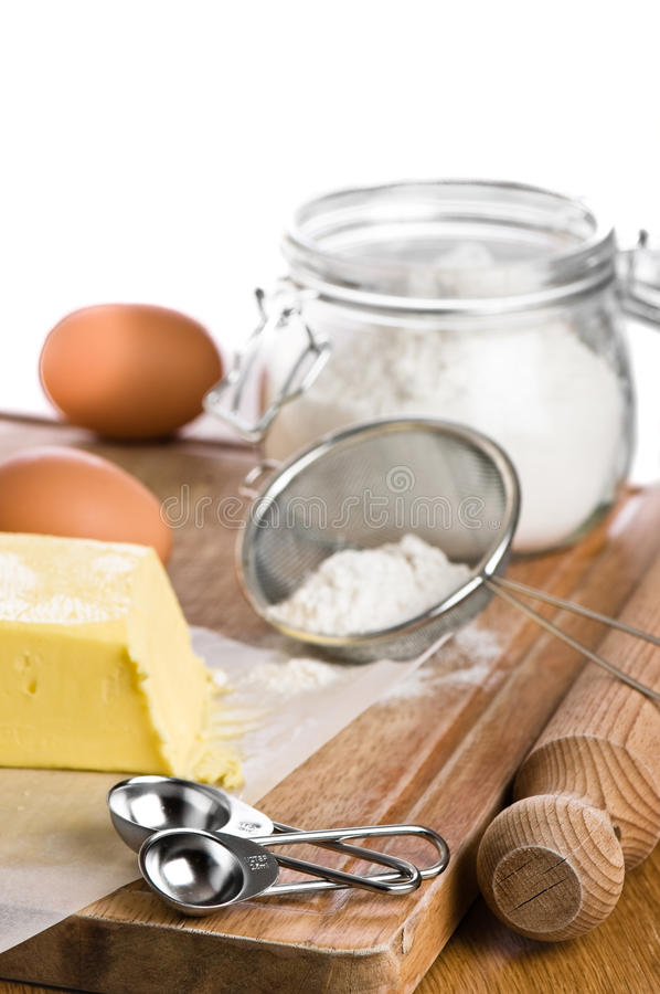 Download Ingredients For Baking stock photo. Image of sieve, knife - 13362980