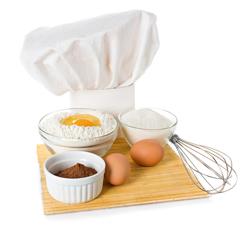 Ingredients for baking stock photography
